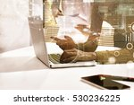 double exposure of recheck... | Shutterstock . vector #530236225