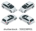 3 door hatchback car isolated.  ... | Shutterstock .eps vector #530238901