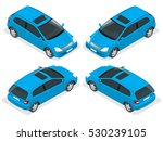 3 door hatchback car isolated.  ... | Shutterstock .eps vector #530239105