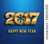 2017   calligraphic new year... | Shutterstock .eps vector #530241505