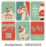 retro christmas design... | Shutterstock .eps vector #530242255