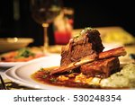 close up of braised beef short... | Shutterstock . vector #530248354