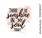 here is sunshine in my soul... | Shutterstock .eps vector #530248417