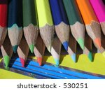 crayons in the sunshine | Shutterstock . vector #530251