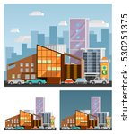 shopping mall building ... | Shutterstock . vector #530251375
