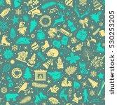 seamless pattern texture... | Shutterstock .eps vector #530253205