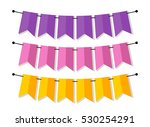 bright banner as bunting flags... | Shutterstock .eps vector #530254291