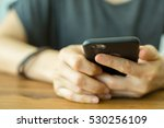 using smartphone for search... | Shutterstock . vector #530256109