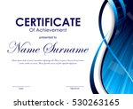 certificate of achievement... | Shutterstock .eps vector #530263165