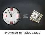 Money With  A Clock Face With...