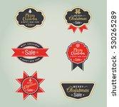christmas sale label  | Shutterstock .eps vector #530265289