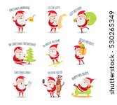 santa claus. collection of... | Shutterstock .eps vector #530265349