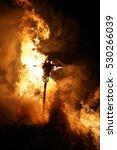bonfire funken burning of... | Shutterstock . vector #530266039