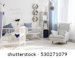 bright and stylish nursery with ... | Shutterstock . vector #530271079
