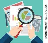 businessman hands with... | Shutterstock .eps vector #530272855