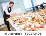 catering. restaurant waitress... | Shutterstock . vector #530273401