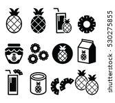 pineapple fruit  pineapple...   Shutterstock .eps vector #530275855