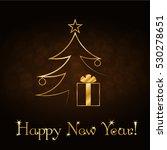 happy new year celebration... | Shutterstock . vector #530278651