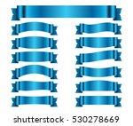 blue ribbons set. satin blank... | Shutterstock . vector #530278669