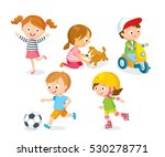 children playing with toys ... | Shutterstock .eps vector #530278771