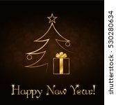 happy new year celebration... | Shutterstock . vector #530280634
