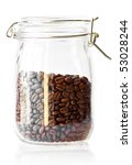 Coffee Beans In A Cristal Jar...