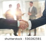 business man shaking hand to... | Shutterstock . vector #530282581