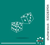 two dice cubes | Shutterstock .eps vector #530283904