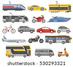 transport decorative flat icons ... | Shutterstock . vector #530293321