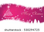 Christmas Card On Pink...