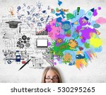 creative and analytical... | Shutterstock . vector #530295265