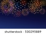 firework bursting sparkle... | Shutterstock . vector #530295889