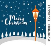 merry christmas background with ... | Shutterstock .eps vector #530303785