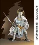 heavy armored crusader  knight... | Shutterstock .eps vector #53030575