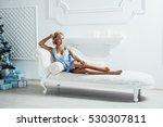 beautiful sexy blonde girl... | Shutterstock . vector #530307811