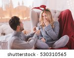 surprised astounded woman... | Shutterstock . vector #530310565