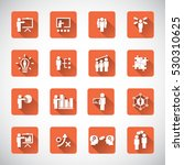 business training icon set | Shutterstock .eps vector #530310625