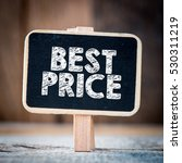 Small photo of Best price / Signboard with text best price on blurred background