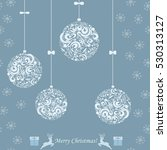background with a christmas... | Shutterstock .eps vector #530313127