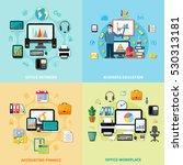 office workplace 2x2 design... | Shutterstock .eps vector #530313181