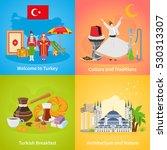 turkey 2x2 design concept set... | Shutterstock .eps vector #530313307