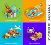 logistic isometric concept with ... | Shutterstock .eps vector #530313319