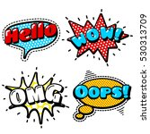 fashion patch badges with hello ...   Shutterstock . vector #530313709