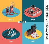 wearable technology set with... | Shutterstock .eps vector #530314837