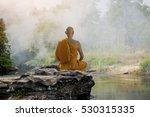 Buddhist Monk In Meditation In...