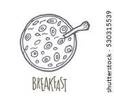 breakfest hand drawn icon over... | Shutterstock .eps vector #530315539