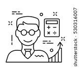 accountant vector icon | Shutterstock .eps vector #530316007
