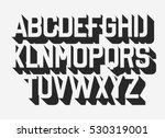 volume retro font. vector... | Shutterstock .eps vector #530319001