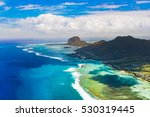 aerial view of le morne brabant ... | Shutterstock . vector #530319445