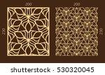 laser cutting set. woodcut... | Shutterstock .eps vector #530320045